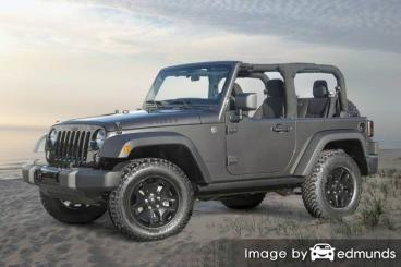 Insurance rates Jeep Wrangler in Fort Wayne