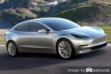 Insurance quote for Tesla Model 3 in Fort Wayne